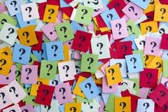 Demasiadas preguntas Imagen de archivo libre de regalías