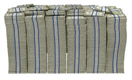 Demasiado dinero. Pila enorme dólar americano Imagenes de archivo
