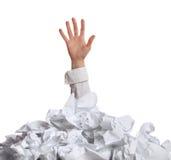 Demasiado papeleo. Concepto Imagenes de archivo