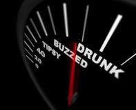 Demasiado para beber - alcoholismo Foto de archivo libre de regalías