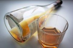 Demasiado para beber - la adicción al alcohol Foto de archivo libre de regalías