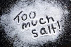 Demasiado sal Imagens de Stock