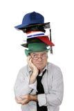 Demasiados sombreros Foto de archivo libre de regalías