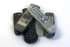 Demasiados telecontroles Imagen de archivo libre de regalías