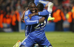 DEMBA-BA Joueur FC CHELSEA Lizenzfreie Stockfotos