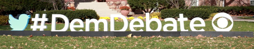 #DemDebate sign Royalty Free Stock Photography