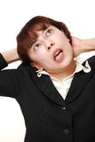 Demented businesswoman Stock Photography