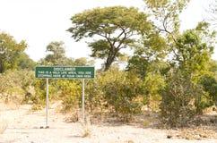 Dementi w picknick terenie w Botswana fotografia royalty free