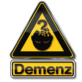 Dementia  and cognitive deficit Royalty Free Stock Photo