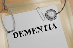 Dementia - medical concept Stock Photography