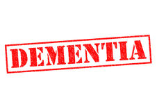 DEMENTIA. Red rubber Stamp over a white background Royalty Free Stock Photography