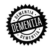 Dementia rubber stamp. Grunge design with dust scratches. Effects can be easily removed for a clean, crisp look. Color is easily changed Stock Image