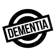 Dementia rubber stamp. Grunge design with dust scratches. Effects can be easily removed for a clean, crisp look. Color is easily changed Royalty Free Stock Image