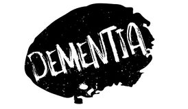 Dementia rubber stamp. Grunge design with dust scratches. Effects can be easily removed for a clean, crisp look. Color is easily changed Stock Photo