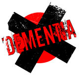 Dementia rubber stamp Stock Images
