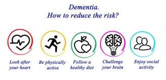 dementia Wie man das Risiko verringert? stock abbildung