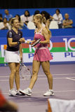 Dementieva and Kirilenko Showdown of Champions Royalty Free Stock Photography