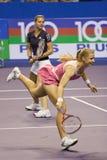 Dementieva und Kirilenko Show-down der Meister Lizenzfreies Stockfoto