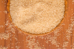 Demerara Sugar into a bowl Royalty Free Stock Photo