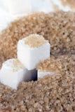 Demerara Sugar & Sugar Cubes-vertical Stock Image