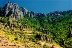 Demerdji. Th� mountains in the summer Royalty Free Stock Images