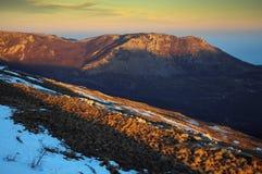 Demerdji mountain, Crimea. Mountain Demerdji and color sunset Royalty Free Stock Image