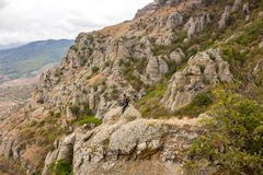 Demerdzhi山在克里米亚 库存照片