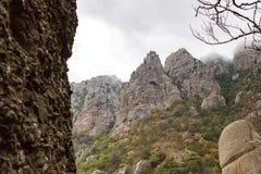 Demerdzhi berg i Krimet arkivbild