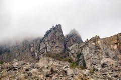 Demerdzhi Mountain in the Crimea royalty free stock photography