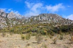 Demerji山,克里米亚 免版税图库摄影