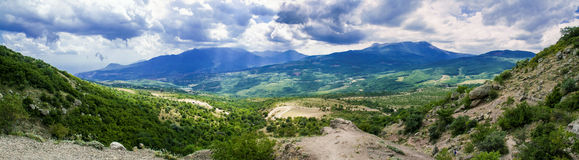 Demerji mountain. In Krimea (Ukraine) near Alushta Stock Photography