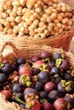 Demesticum de mangoustan et de Lansium Images libres de droits