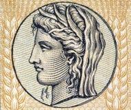 Demeter, déesse grecque de la texture et fertilité Photos stock
