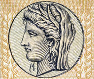 Demeter, dea greca di granulo e fertilità Fotografie Stock
