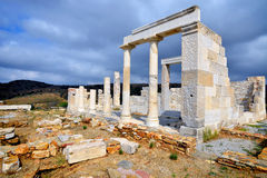 Demeter temple, Naxos Stock Photo