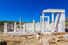 Demeter Temple, Naxos island, Cyclades, Aegean, Greece Royalty Free Stock Image