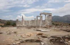Demetertempel von Naxos stockfotografie
