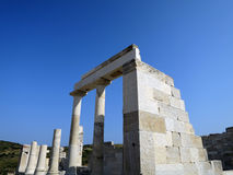 Demetra Temple in Naxos island Stock Photo