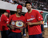 Demetrius Andrade and Michael Carter-Williams Royalty Free Stock Photo