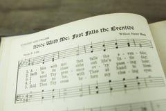 Demeurez avec moi des automnes rapides le crépuscule Christian Worship Hymn photographie stock libre de droits