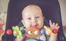 Demi année de bébé mignon photographie stock