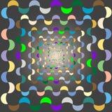 Demi-cercle Illustration de Vecteur