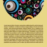 Demi-cercle décoratif au dessus Image libre de droits