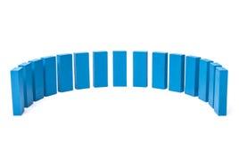 Demi-cercle hors des blocs bleus Photo libre de droits