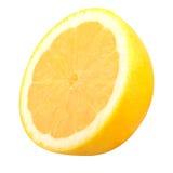 Demi citron d'isolement sur le blanc Photo libre de droits