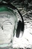 Demi d'écouteurs d'avant Photographie stock