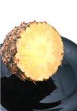 Demi d'ananas Photos stock