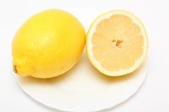 demi de citron Photos stock