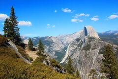 Demi de dôme au stationnement national de Yosemite Photographie stock libre de droits