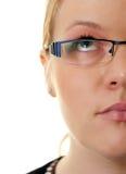 Demi de femme de visage photographie stock